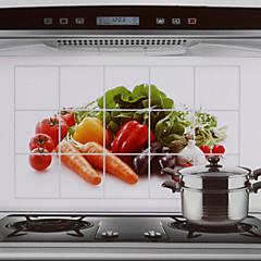 75x45cm Gemüse Muster öldicht wasserdicht warmfest Küchenwandaufkleber