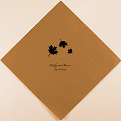Personalized Wedding Napkins Maple Leaves(More Colors)-Set of 100