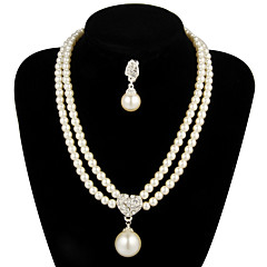 Jewelry Set Women's Anniversary / Wedding / Engagement / Gift / Party Jewelry Sets Pearl / Alloy Pearl Necklaces / Earrings Ivory