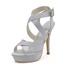 platform naaldhak satijnen sandalen met de gesp bruiloft schoenen (meer kleuren)