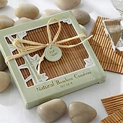 Natürliche Bambus Umweltfreundlich Coaster Bevorzugungen
