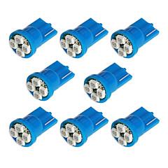 8x T10 194 168 501 3528 4-SMD LED רכב נורת הכחול