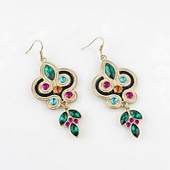 새로운 디자인 합금 모조 다이아몬드 다채로운 귀걸이