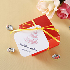 Personalized square tags - Cake (set of 36)