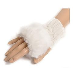 Wrist Length Half Finger Glove Wool General Purposes & Work Gloves Spring / Fall / Winter
