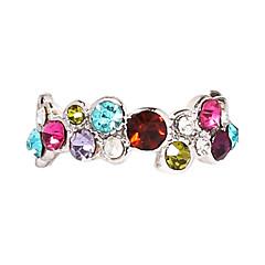 指輪 パーティー 日常 ジュエリー 合金 ジルコン 女性 ステートメントネックレス 1個,7 8 ピンク