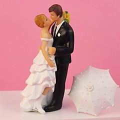 """Romantic in the Rain"" Wedding Cake Topper"
