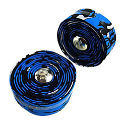 1 Pair Fixed Gear Road Bike/Bicycle Blue+Black Handlebar Strap