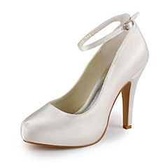 Women's Shoes Ankle Strap Satin Stiletto Heel Pumps Wedding Shoes More Color Available