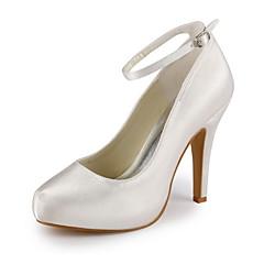 Dame Bryllup sko Hæler/Ankelrem høye hæler Bryllup/Fest/aften Svart/Blå/Rosa/Lilla/Rød/Elfenbenshvit/Hvit/Sølv/Gull/Sjampagne