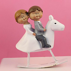 Cake Topper Non-personalized Classic Couple Resin Wedding White Classic Theme Gift Box