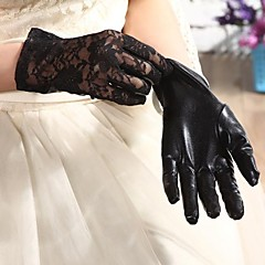 Elbow Length Fingertips Glove Spandex Paintcoat Bridal Gloves