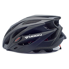 MOON® Unisex Cykel Hjelm 21 Ventiler Cykling Cykling Bjerg Cykling Vej Cykling Rekreativ Cykling L: 58-61CM M: 55-58CM PC EPS Sort