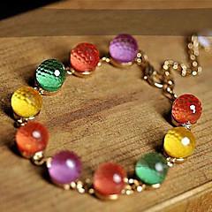 Pulseras del filamento Cristal Diseño Único Moda Joyas Arco iris Joyas 1 pieza