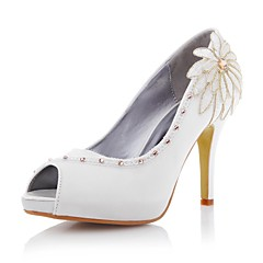 Women's Wedding Shoes Heels/Peep Toe/Platform Heels Wedding/Party & Evening Ivory