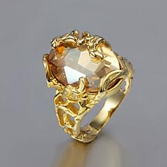 Dame uttalelse Ringe kostyme smykker Gullbelagt 18K gull Smykker Til Bryllup Fest Daglig Avslappet
