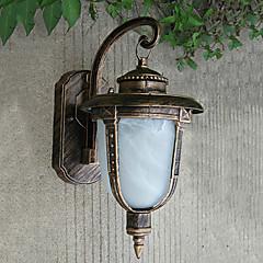Outdoor Wall Light, 1 Light, Classic alumínium Üveg Festés