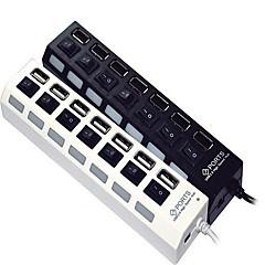 7-port høyhastighets USB 2.0 hub uavhengig switch
