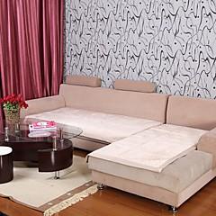 Elaine Short Plush Bordure Lotus Pattern Beige Sofa Cushion 333561