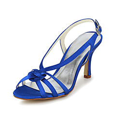 Women's Shoes Satin Spring / Summer / Fall Heels / Slingback Wedding / Party & Evening Stiletto HeelBlack / Blue / Purple / Red / White /