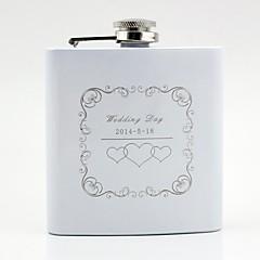 Paar Geschenke Stück / Set Flaschen Klassisch Hochzeit Edelstahl individualisiert Flaschen Weiß Geschenkbox
