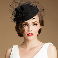 Mulheres Tule Lã Capacete-Casamento Ocasião Especial Casual Ao ar Livre Chapéus