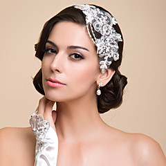 Women's Lace / Rhinestone / Imitation Pearl Headpiece-Special Occasion Headbands As the Picture