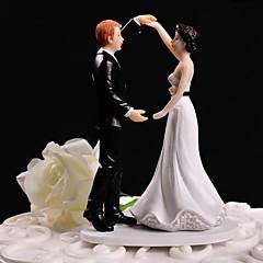 Decorações de Bolo Não-personalizado Casal Clássico Resina Casamento Branco / Preto Tema Floral / Tema Clássico Caixa Oferta