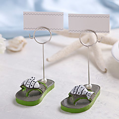 Chrome Resin Place Card Holders 2 Standing Style Gift Box