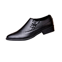 Men's Shoes Wedding/Party & Evening Leather Loafers Black