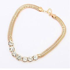 Kumis Fashion Star Style Metall-Diamant-Halskette (Gold)