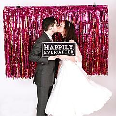 pe decoración de la boda lluvia láser cortina partido de la foto de fondo decoratio - conjunto de 10 (más colores)