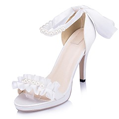 Women's Wedding Shoes Heels Sandals Wedding/Party & Evening Black/Ivory/White