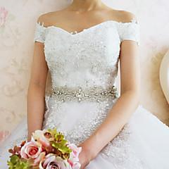 Satin Mariage / Fête/Soirée Ceinture-Strass Femme Blanc 200cm Strass