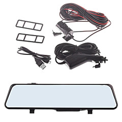 """Aladdin A802 4.3 """"TFT Dual Lens 1080p 5.0MP Wide Angle Car DVR Camcorder com espelho retrovisor"""