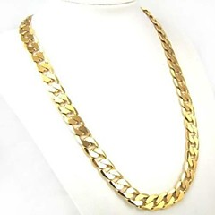 Women's Men's Chain Necklaces Circle Gold Plated Fashion Personalized Classic Gold Jewelry ForDaily Casual Sports Christmas Gifts