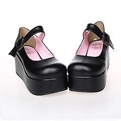 נעליים לוליטה קלאסית ומסורתית / לוליטה פאנק לוליטה פלטפורמה נעליים אחיד 7 CM Black / ורוד ל נשים עור פוליאוריתן