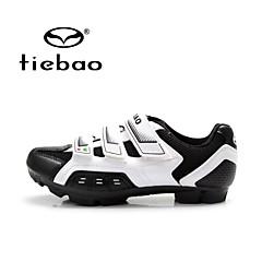 Tiebao Mountain Bike-sko Sykkelsko Unisex Anti-Skli Pustende Utendørs Fjellsykkel PVC Lær ånd bare Blanding Sykling