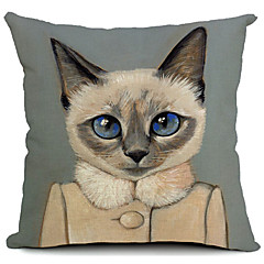 Cartoon schöne Katze Baumwolle / Leinen Dekorative Kissenbezug