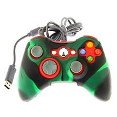 controlador dual shock com fio com capa de pele de silicone para xbox 360