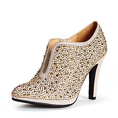 maykee Damenmode süße Diamant High Heel Boot