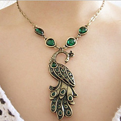 Women's Alloy Peacock Necklace