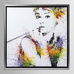 indrammet lærred kunst, farve stænk Audrey Hepburn med strakte ramme