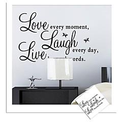 zooyoo® abnehmbaren colorful words love live laugh 3D Wandaufkleberausgangsdekorwandaufkleber für Kind / Wohnzimmer