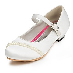 Girls' Shoes Comfort Chunky Heel Wedding Pumps/Heels with Flowers Shoes More Colors available