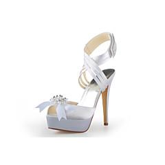 Women's Wedding Shoes Platform/Ankle Strap Sandals Wedding Black/Blue/Pink/Purple/Red/White/Silver/Gold/Champagne/Beige