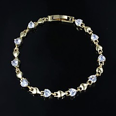 Nice Alloy Gold Plated With Big Zircon Bangles Bracelet(More Colors)