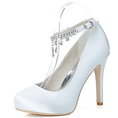 Women's Wedding Shoes Heels/Round Toe Heels Wedding/Party & Evening Black/Blue/Pink/Purple/Ivory/White/Silver