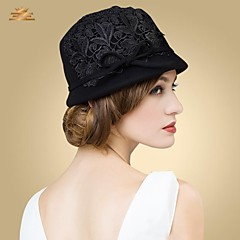 Women's Wool Headpiece-Casual Hats Round