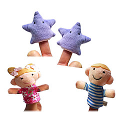 4pcs Twinkle Twinkle Little Star den Kinderreim Fingerpuppen